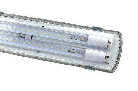 Professione Led - Plafoniera per due tubi LED 120cm - IP65 UNIVERSALE}