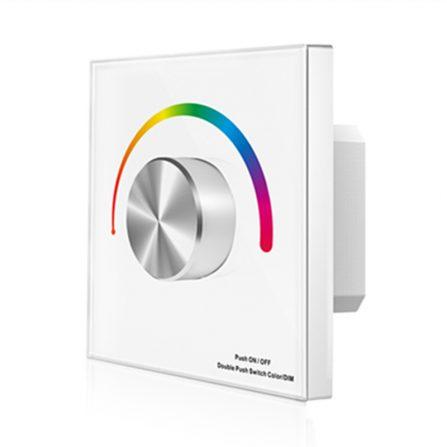 Professione Led - CONTROLLER da parete PER STRIP LED RGB manuale 12A}