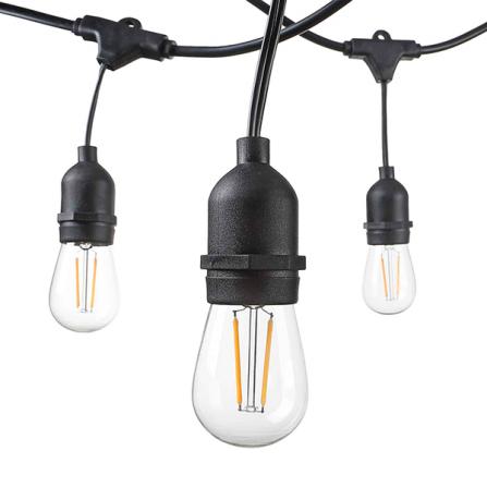 Professione Led - Catenaria per 15 lampade E27 lunghezza 15 Mt}